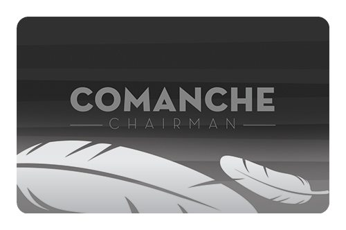 Comanche Players Comanche Players Cards Chairman flat- Comanche Nation Casino